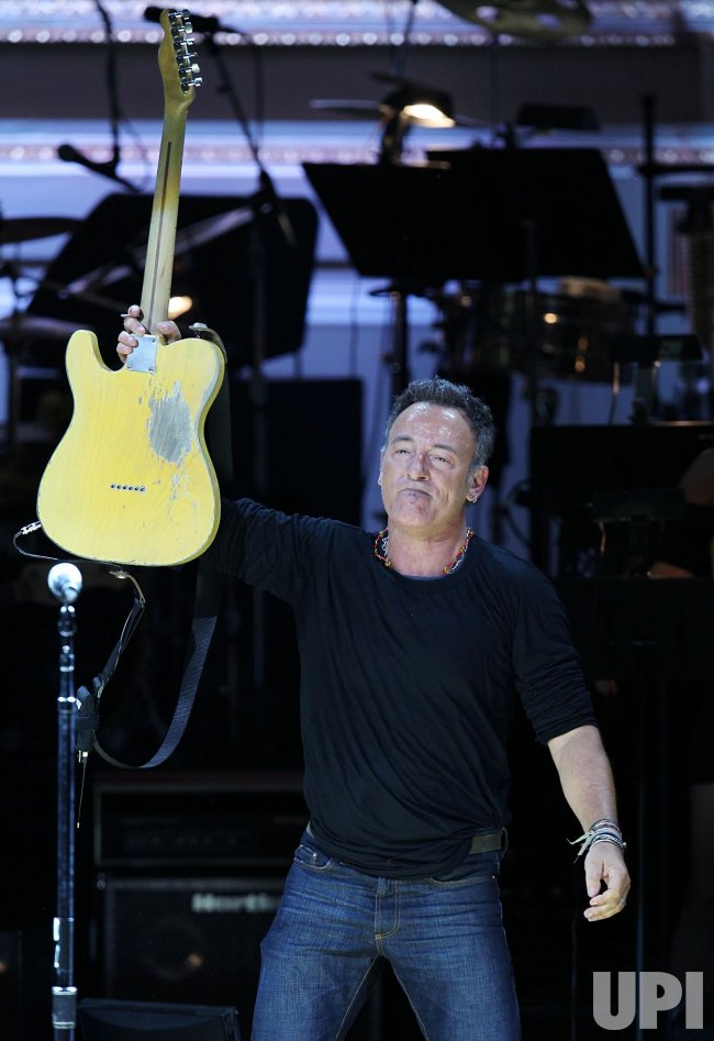 Bruce Springsteen performs at the Rainforest Fund's 21st Birthday at Carnegie Hall in New York
