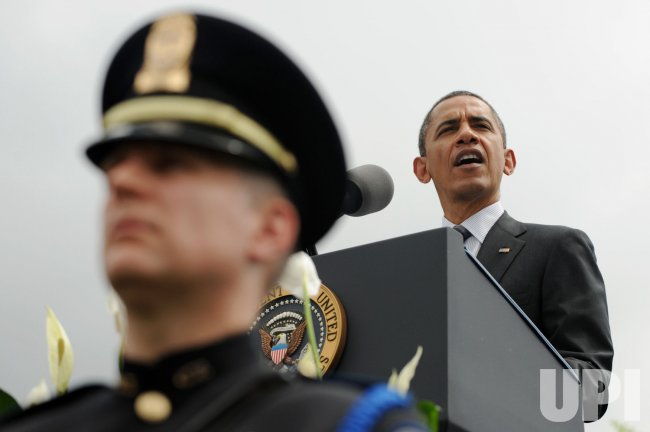 US President Barack Obama delivers remarks at the National Peace Officers Memorial Service in Washington