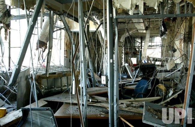 ORLEANS LAKEFRONT AIRPORT DEVASTATED AFTER HURRICANE KATRINA HIT THE GULF COAST