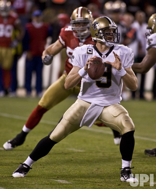 Saints Drew Brees defeats the 49ers in San Francisco
