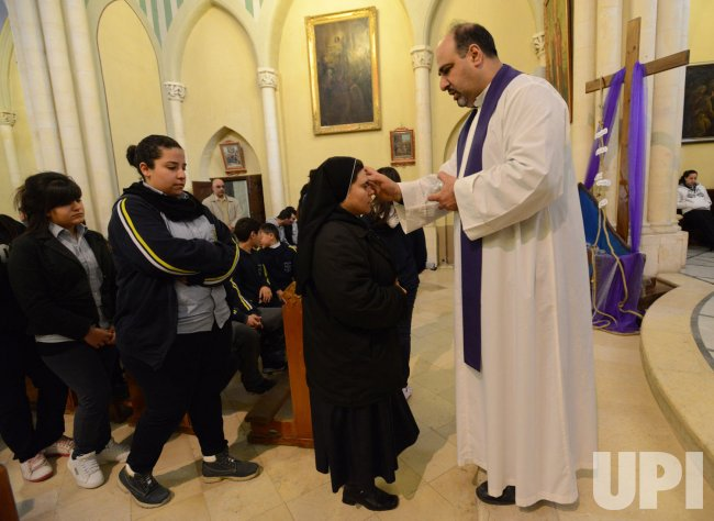 Palestinians Observe Ash Wednesday