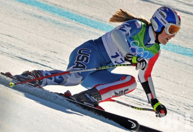 USA's Lindsey Vonn wins bronze in the Ladies' Super-G in Whistler