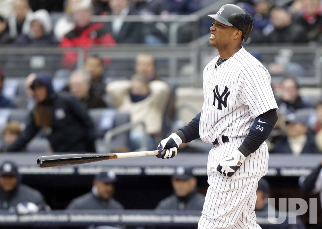 New York Yankees Robinson Cano on Opening Day at Yankee Stadium in New York