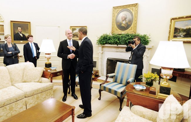 President Obama meets with Prime Minister of Sweden in Washington