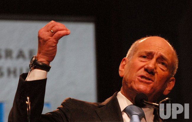 Israeli Prime Minister Olmert speaks at AIPAC in Washington