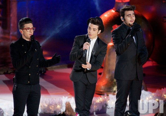Il Volo performs during the Rockefeller Center Christmas Tree Lighting Ceremony in New York ...