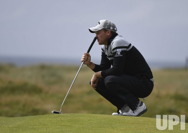Danny Willett in action at the Open Golf Championship