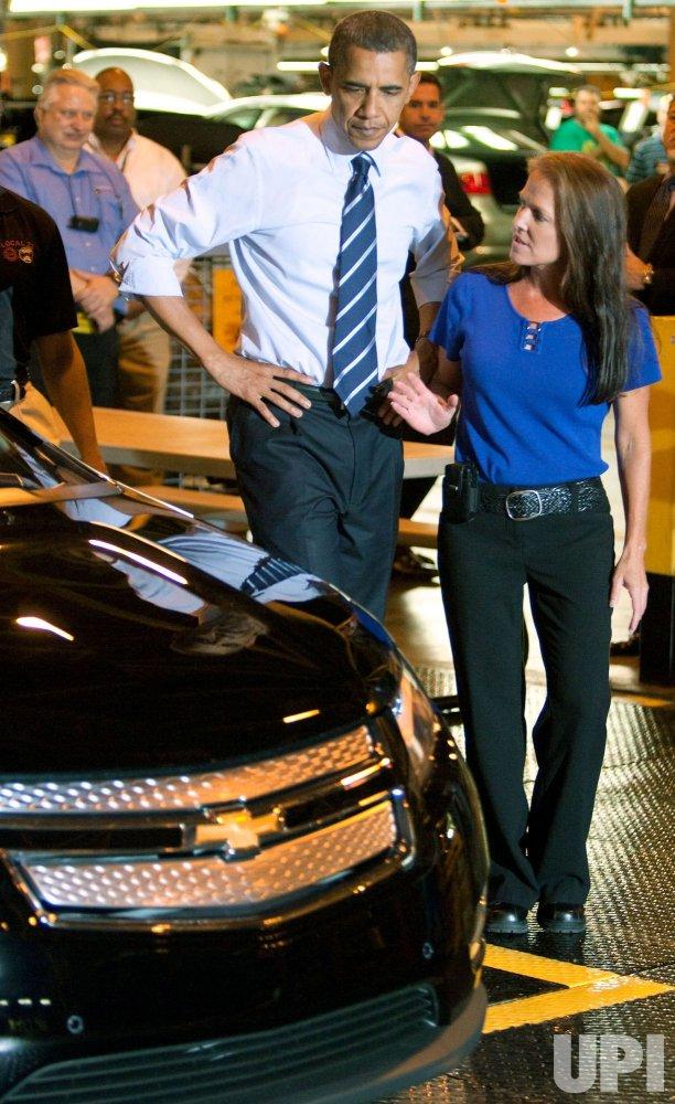 President Obama Visits GM Detroit-Hamtramck Plant