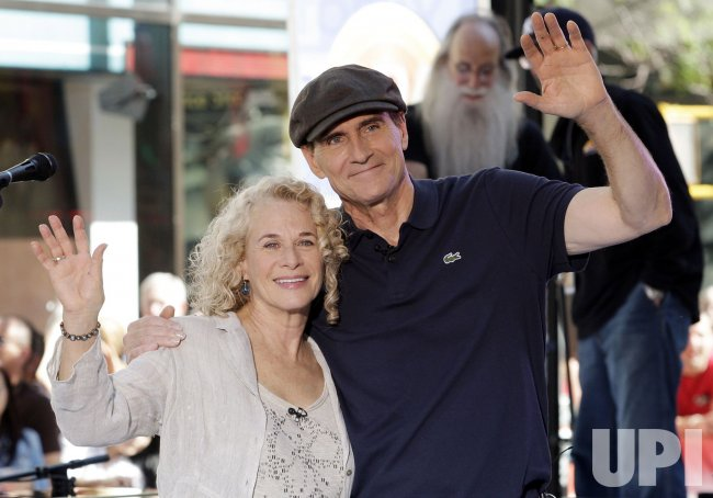 James Taylor and Carole King perform on the NBC Today Show at Rockefeller Center in New York