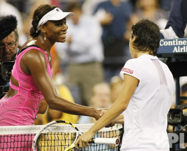 Francesca Schiavone and Venus Williams compete at the U.S. Open in New York