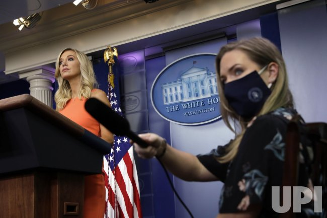 Press Secretary Kayleigh McEnany holds a briefing at the White House