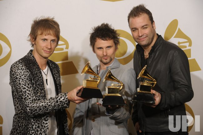 Muse wins Best Rock Album at the 53rd Grammy Awards in Los Angeles