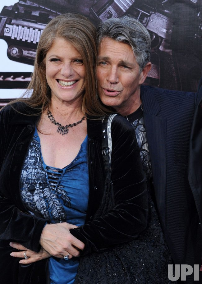 "Eric Roberts arrives with his wife Eliza Roberts at ""The Expendables"" premiere in Los Angeles"
