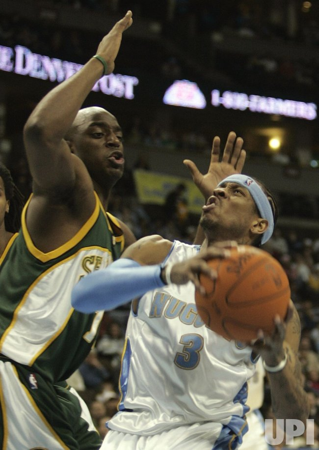 SEATTLE SUPERSONICS VS DENVER NUGGETS
