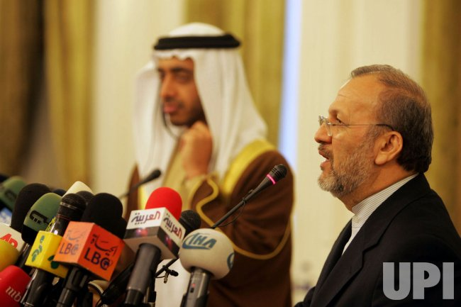 IRANIAN AND UAE FOREIGN MINISTERS SPEAK AT JOINT PRESS CONFERENCE