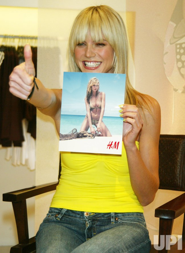 Heidi Klum at H&M Store Swimsuit Launch