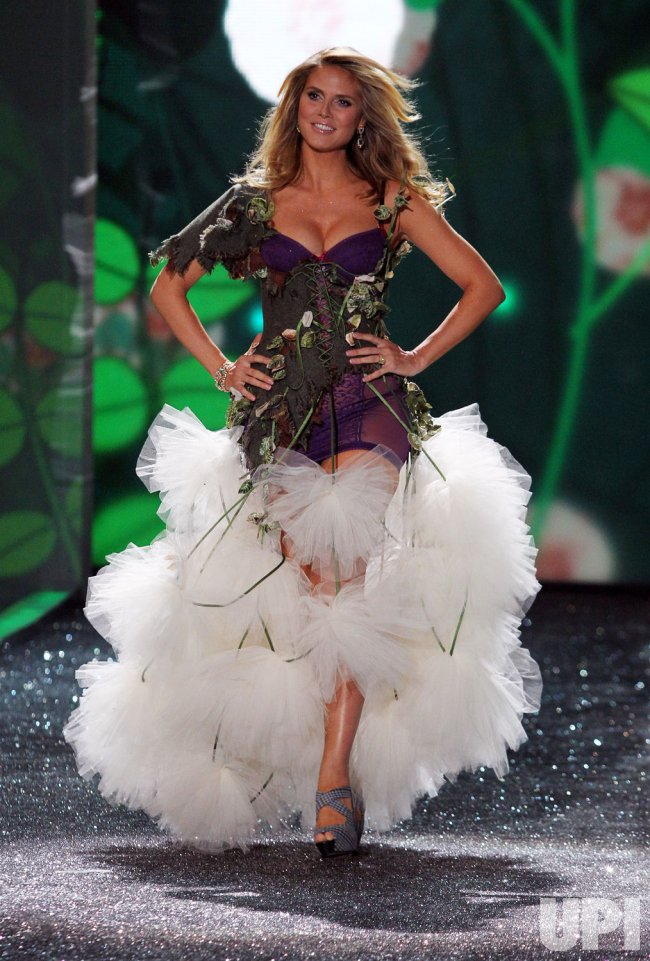Heidi Klum walks the runway at the Victoria's Secret Fashion show in New York