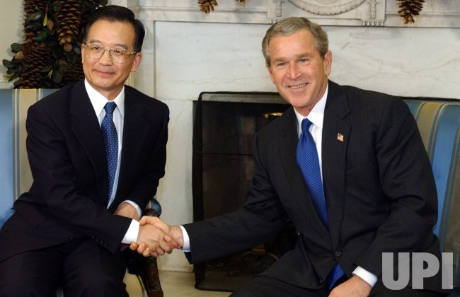PRESIDENT BUSH MEETS WITH CHINESE PREMIER WEN JIABAO