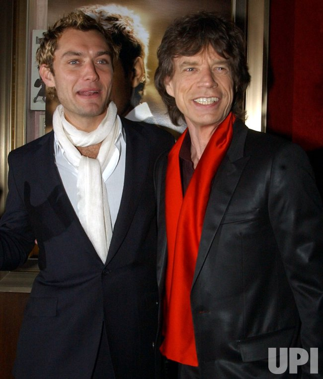 "JUDE LAW, MICK JAGGER ATTEND NEW YORK PREMIERE FOR THEIR FILM ""ALFIE"""