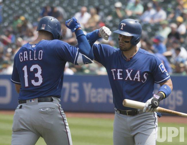 Texas Rangers Joey Gallo homers in Oakland