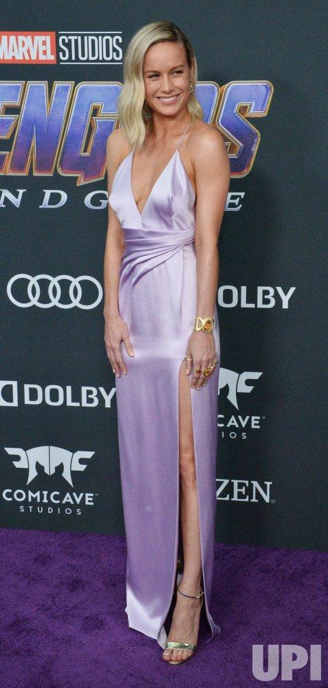 "Brie Larson attends ""Avengers: Endgame"" premiere in Los Angeles"