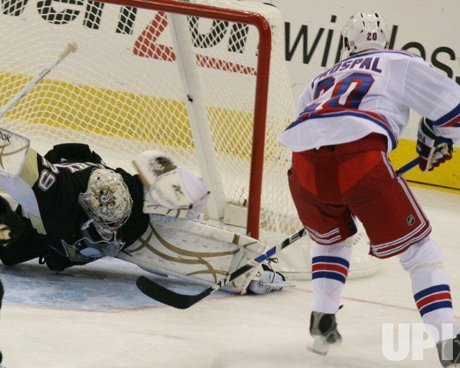 Pittsburgh Penguins vs New York Rangers.