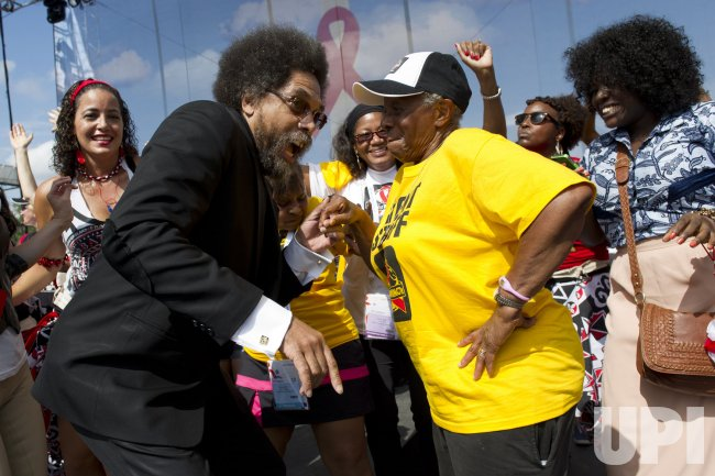 Cornel West attends Keep the Promise on HIV/AIDS rally in Washington