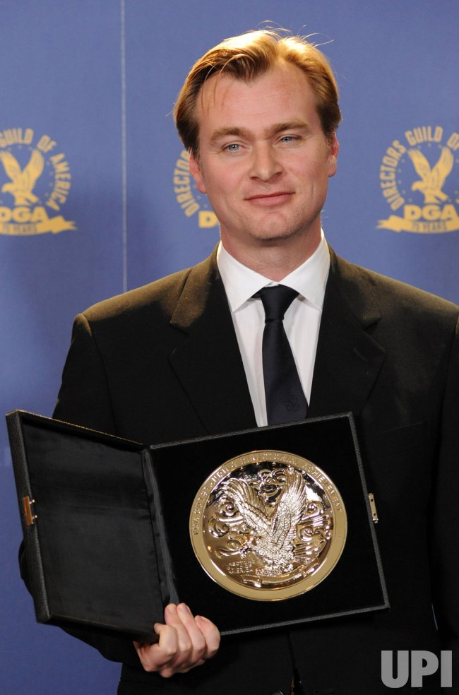 Director Christopher Nolan appears backstage at the DGA Awards in Los Angeles