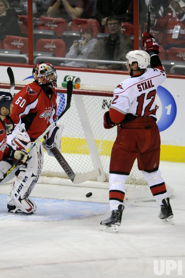 Eric Staal Scores against Theodore in Washington, DC