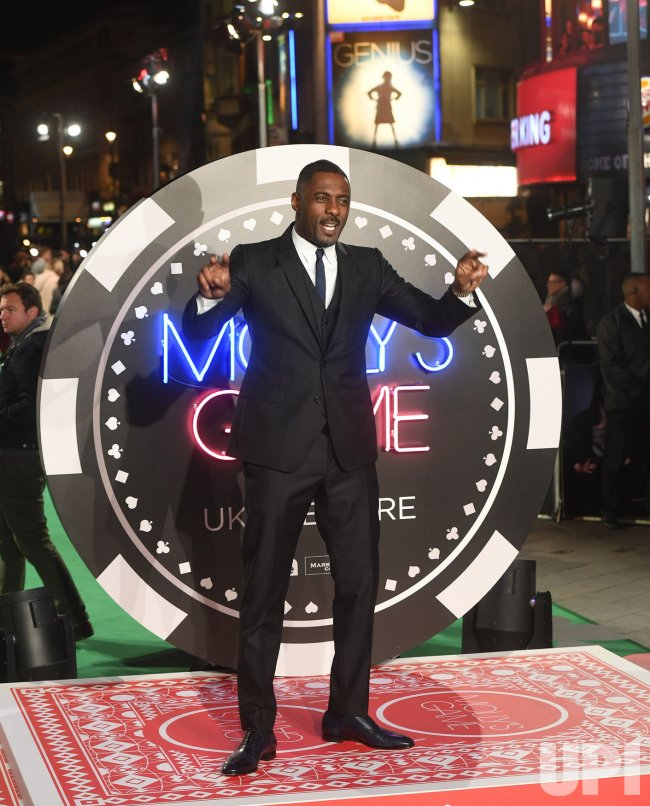 Idris Elba attends the world premiere of Molly's Game at Vue West End.