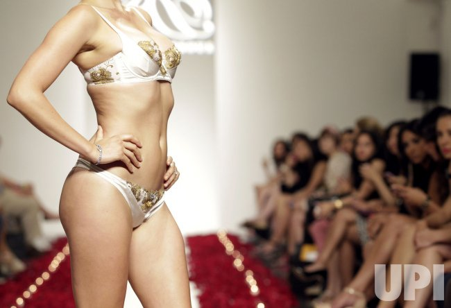 Rococo Dessous 24 Karat Gold Lingerie runway show In New York