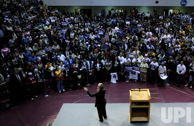 Hillary Clinton campaigns in Fairmont, West Virginia
