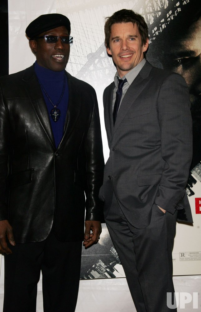 "Wesley Snipes and Ethan Hawke arrive at ""Brooklyn's Finest"" Premiere in New York"