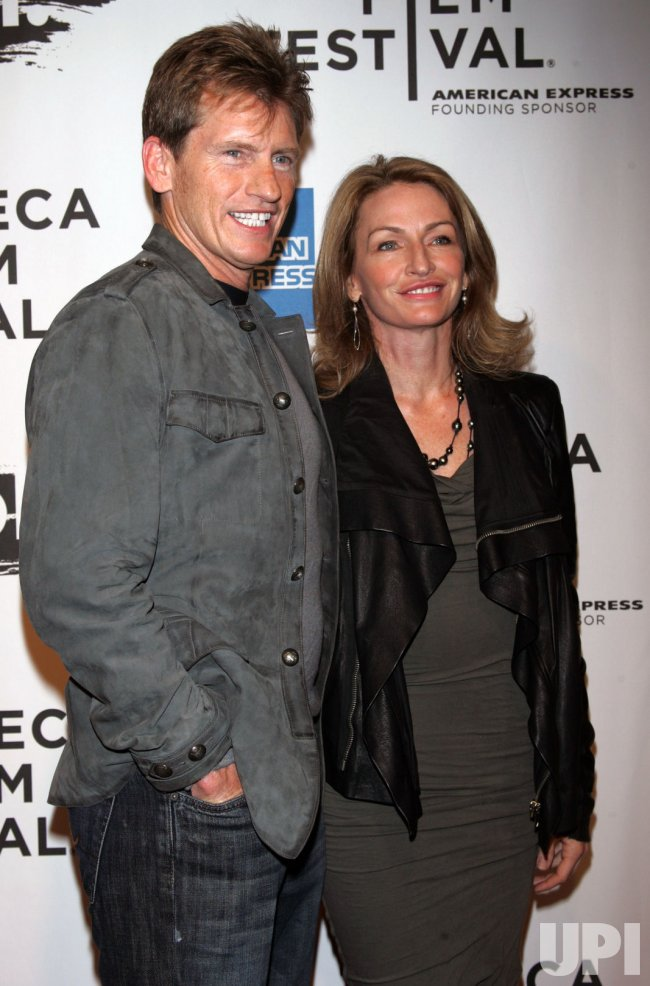 "Denis Leary and wife arrive for the Tribecal Film Festival Premiere of ""The Union"" in New York"