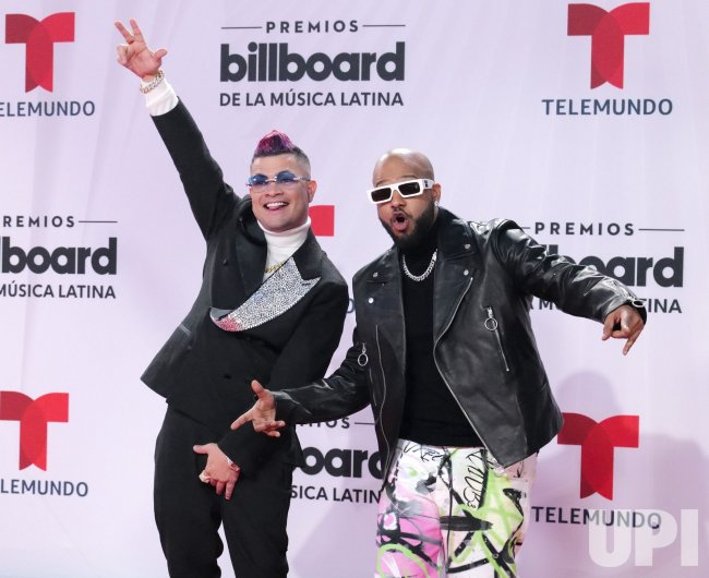 Jowell & Randy at the 2020 Latin Billboard Awards in Sunrise, Florida