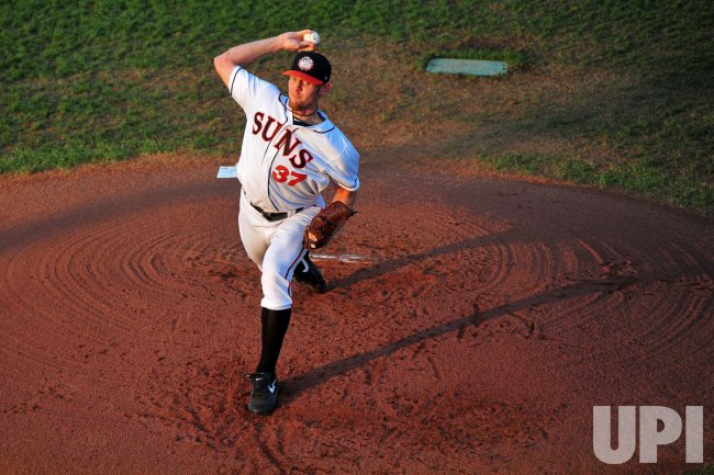 Stephen Strasburg pitches in Hagerstown