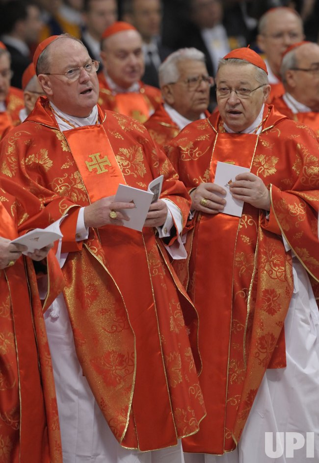 Catholic Cardinals meet for Mass in the Vatican