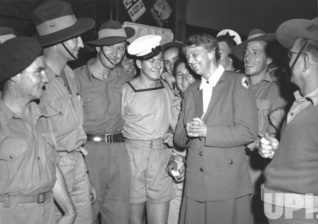 Eleanor Roosevelt visits Australia during WWII
