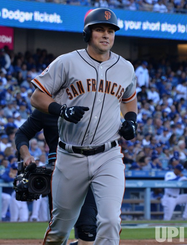 Giants' Joe Panick hits solo home run in fifth inning against the dodgers in Los Angeles