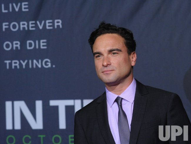 "Johnny Galecki attends the ""In Time"" premiere in Los Angeles"