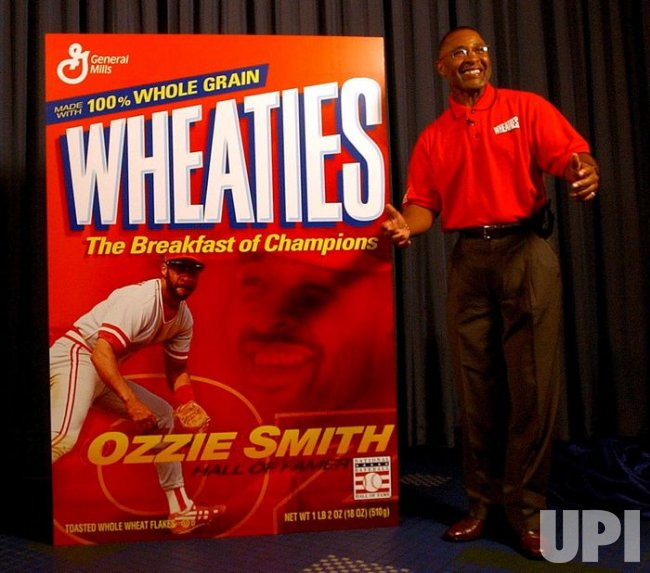 Ozzie Smith on Wheaties box
