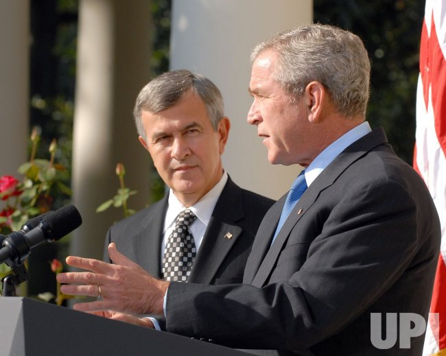 BUSH ANNOUNCES AGRICULTURE SECRETARY JOHANNS' RESIGNATION AT WHITE HOUSE