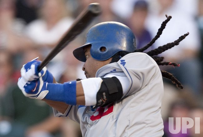 Dodgers Ramirez Grounds Out in Denver