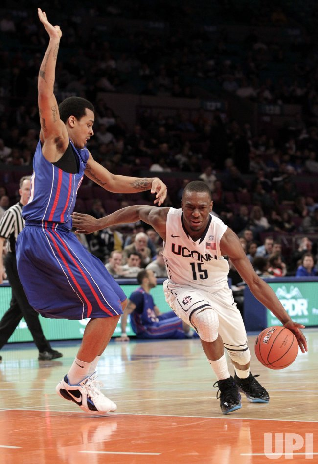 DePaul Blue Demons Brandon Young at the NCAA Big East Men's Basketball Championships in New York