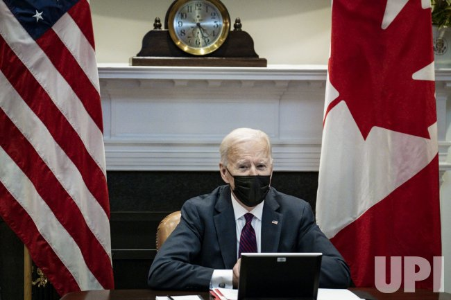 Biden Virtual Bilateral Meeting with Trudeau