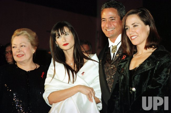 Demi Moore with AmFAR Dr. Mathilde Krim