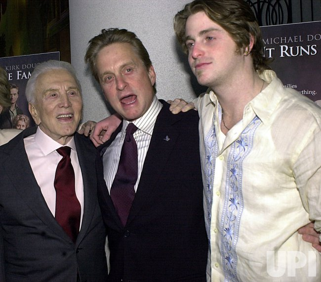 "Kirk, Michael, Cameron Douglas film premiere ""It Runs in the Family"""