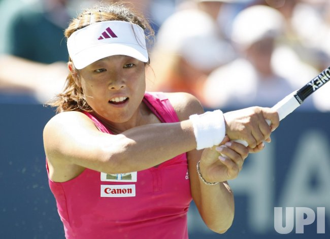 Francesca Schiavone and Ayumi Morita compete at the U.S. Open in New York