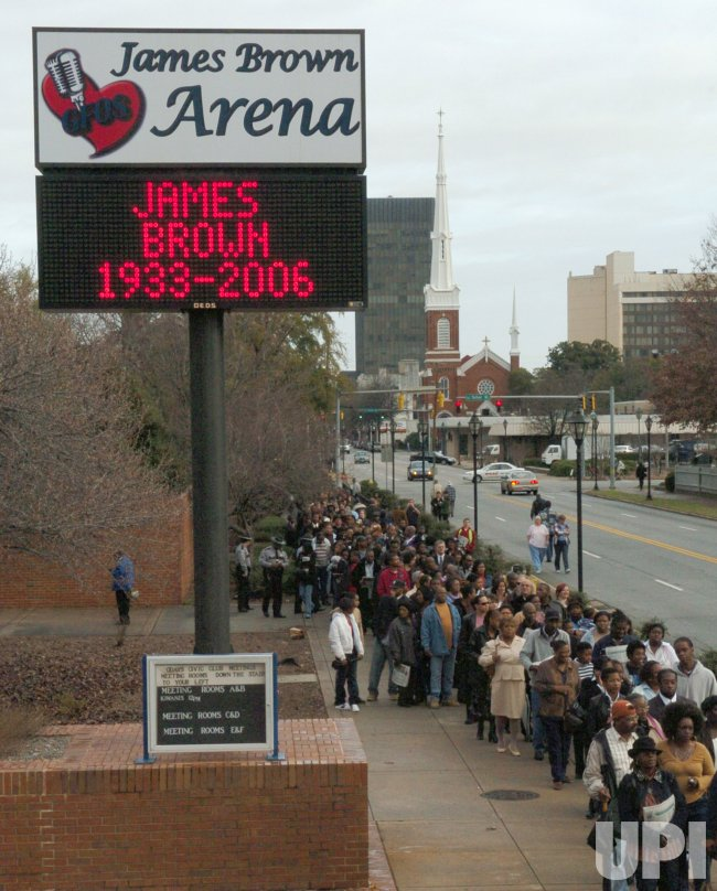 JAMES BROWN PUBLIC VIEWING AND FUNERAL IN HOMETOWN ARENA NAMED FOR SINGER