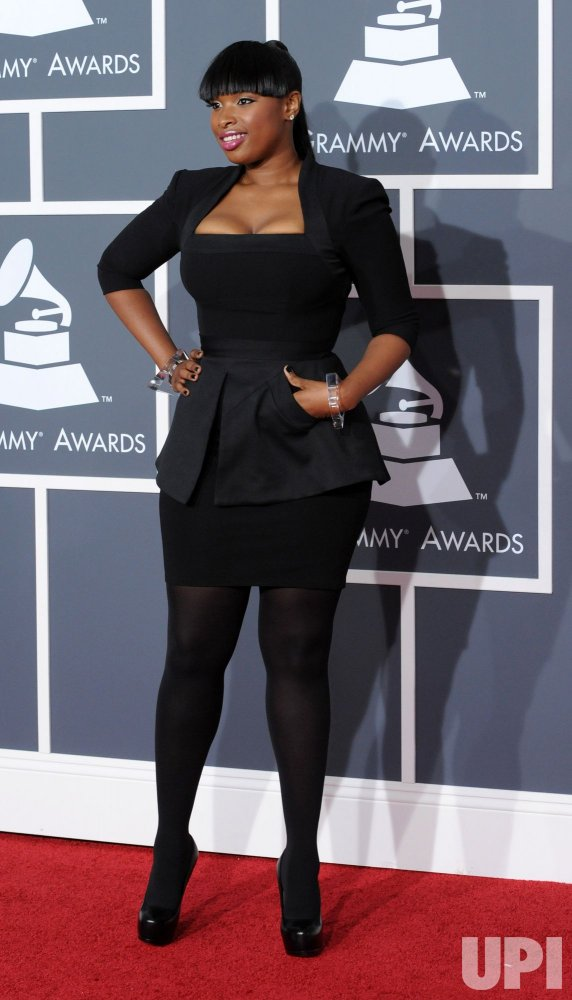 Jennifer Hudson arrives at the 52nd annual Grammy Awards in Los Angeles